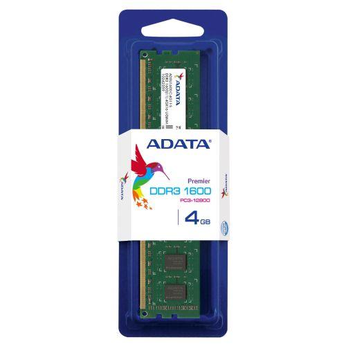 Memória DDR3  4GB 1600MHZ ADATA (AD3U1600W4G11-S)