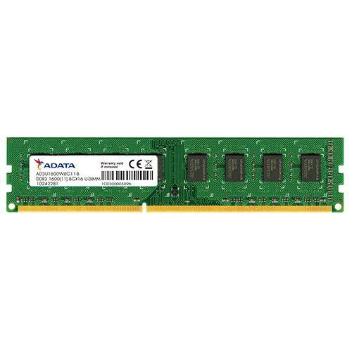 Memória DDR3  8GB 1600MHZ ADATA (AD3U1600W8G11-S)