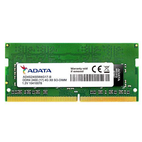 Memória NOTEOOK DDR4 4GB 2400MHz ADATA (AD4S2400J4G17-S)