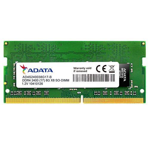 Memória NOTEBOOK DDR4 8GB 2400Mhz ADATA (AD4S240038G17-S)