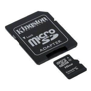 Cartão de Memória MicroSD 16gb com adaptador Kingston CL4 SDC4/16gb