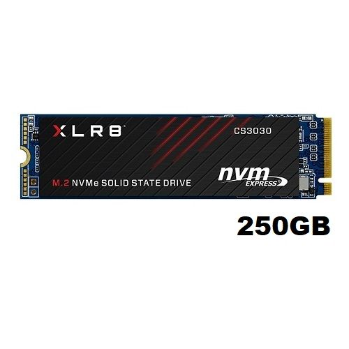 SSD GAMER 250GB M.2 NVME 2280 PNY XLR8 (M280CS3030-250-RB)