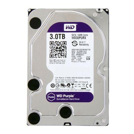 HD 3TB 64MB Sata3 Intellipower WD Purple WD30PURX