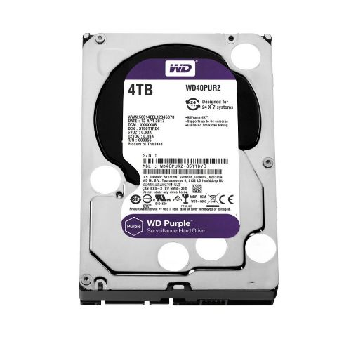 HD 4TB Purple IntelliPower WD (5400rpm / 64MB / Sata 6.0Gb/s) WD40PURZ