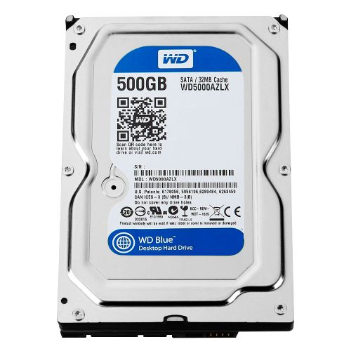 HD 500GB 32MB Sata3 7200rpm WD Bleu (WD5000AZLX)