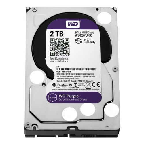 HD 2TB Purple IntelliPower WD (5400rpm / 64MB / Sata 6.0Gb/s) WD20PURX