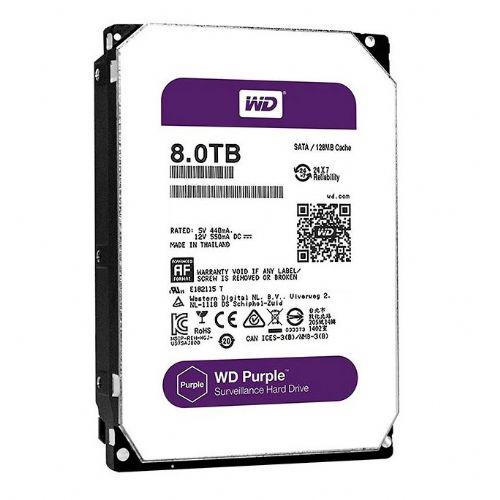 HD 8TB 64MB Sata3 5400rpm WD Purple Surveillance (WD80PUZX)
