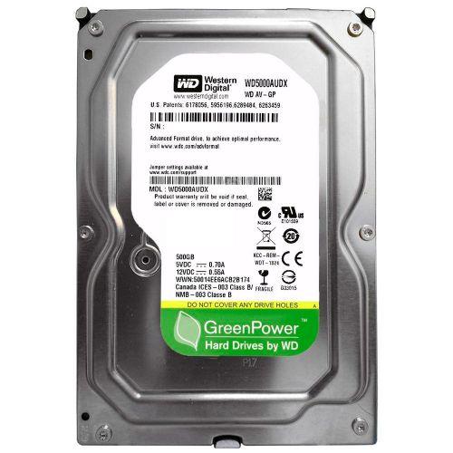 HD 500GB 32MB Sata3 7200rpm WD IntelliPower (WD5000AUDX)