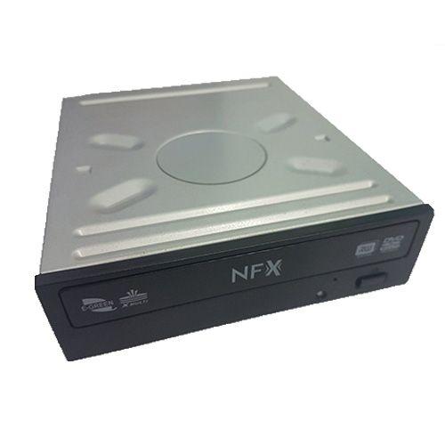 Gravador de DVD SATA Interno 22x NFX Preto