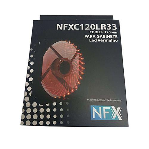 Cooler com LED Vermelho para Gabinete 120x120x25 NFX (C120LR33)