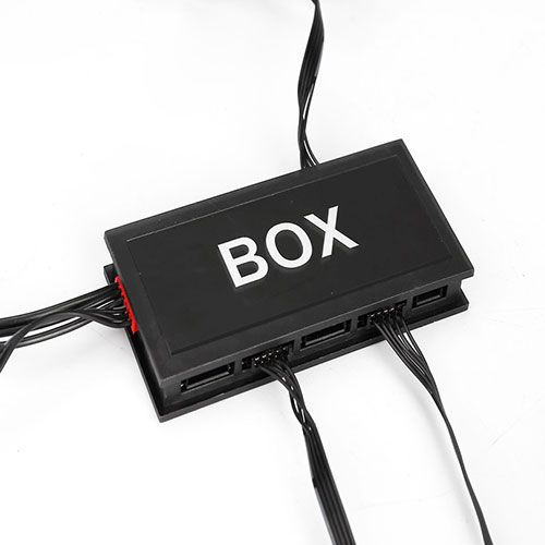 Kit com 3 Fan para Gabinete 120x120x25 RGB com Controladora e Controle Remoto NFX NFX12RING-RGB
