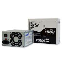 Fonte ATX 200w real VisagePC (CM-200W) - sem cabo