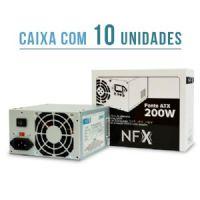 Fonte ATX 200W real NFX CM-200W (sem cabo) - Caixa com 10 unidades
