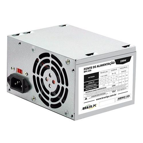 Fonte ATX 230W Brazil PC BPC-230V1.2 OEM (SEM CABO DE FORÇA)