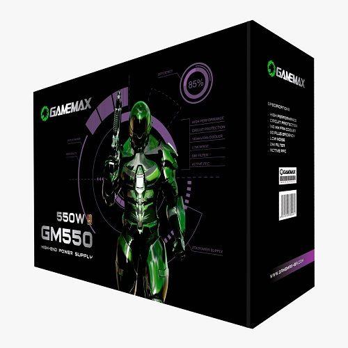 Fonte ATX 550W 80Plus Bronze PFC Ativo Gamemax GM550