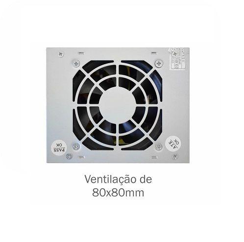 Fonte SFX 200W K-MEX PB-200CNF com Cabo de Força (M-ATX/ITX)