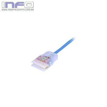 Patch Cord U/UTP CAT5-E CMX T568A Azul 1,50m