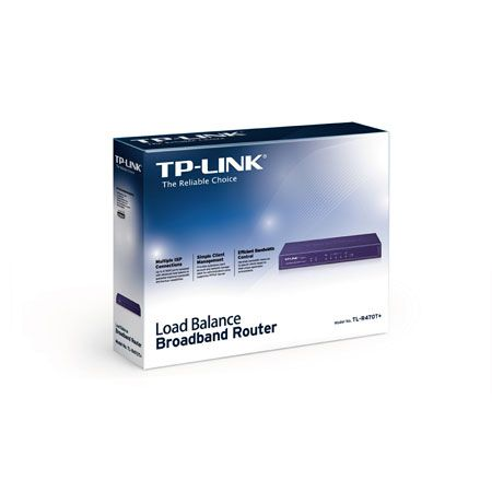 Roteador DUAL WAN TP-Link TL-R470T+ (1x LAN + 3x WAN)