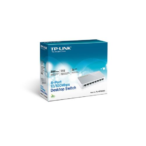Switch 8 portas 10/100 TP-LINK TL-SF1008DV VLAN