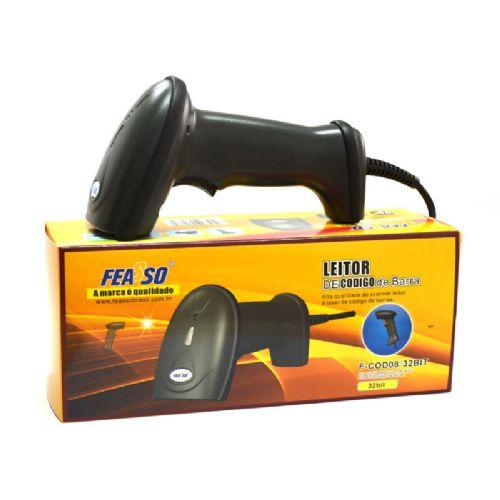 Leitor de Código de Barras Laser USB Feasso (F-COD08/32BIT)