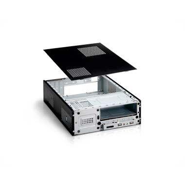 Gabinete K-MEX CM-9J8A Micro-ATX Preto/Prata Fonte 250W