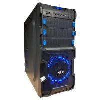 Gabinete GAMER NFX SOLDIER Preto com detalhe Azul (Sem Fonte)