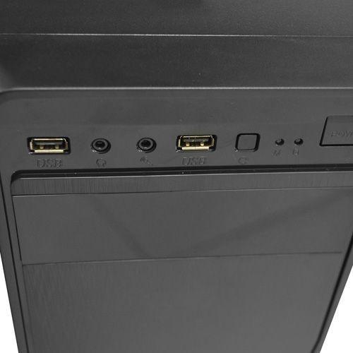 Gabinete NFX Preto K105B sem Fonte (1 baia externa 5.25 / HD Audio)