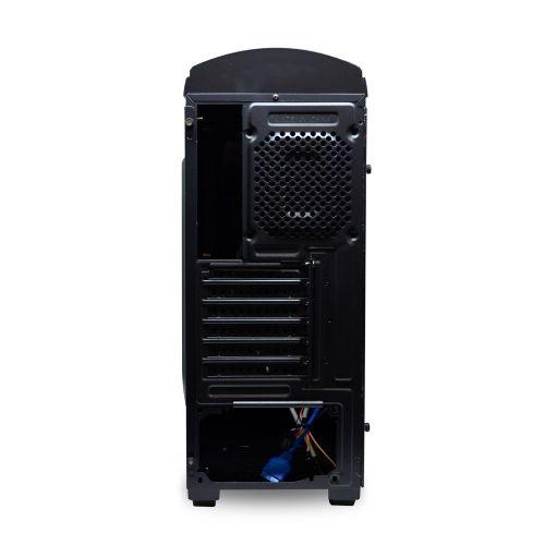 Gabinete NFX Gamer DARKFACE 2 Preto com 2 coolers LED AZUL e Lateral em Acrílico (Sem Fonte)