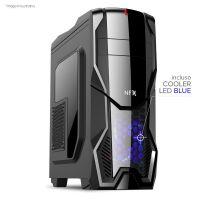 Gabinete NFX Gamer DARKSHIELD com cooler LED Azul (Não acompanha Fonte)