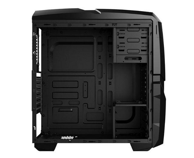 Gabinete NFX Gamer DARKSHIELD Preto com Cooler LED AZUL (Sem Fonte)