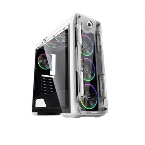 Gabinete GAMER Gamemax OPTICAL G510-W White RGB (Sem Fonte)