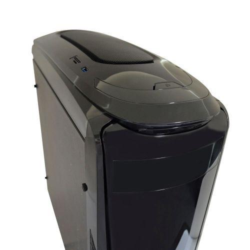 Gabinete GAMER NFX DARKFACE 2 Preto com Lateral em Acrílico (Sem Fonte e sem Cooler)