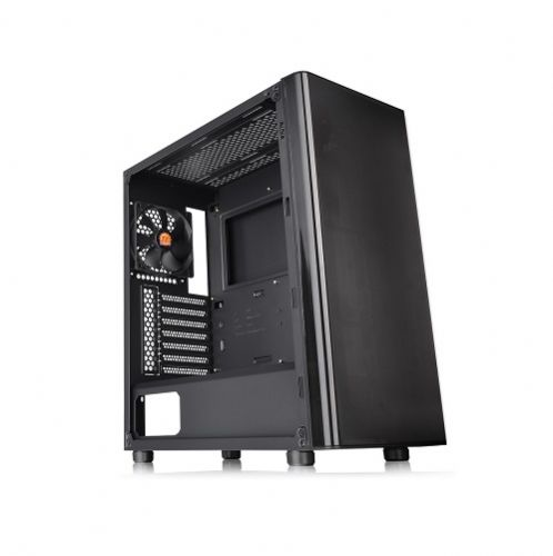 Gabinete GAMER Thermaltake V200 Black Lateral com Vidro Temperado com 1 Fan Cooler de 120mm  (Sem Fonte)