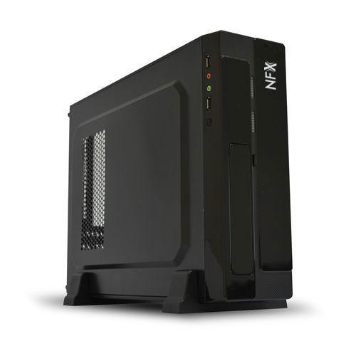 Gabinete NFX Slim Preto com Fonte SFX 200W (Sem Cabo de Força)