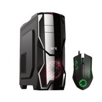 Gabinete GAMER NFX DarkShield Preto (Sem Fonte e Sem Fan Coolers) => Brinde: 01 x Mouse GAMER 3200DPI Gamemax MG386