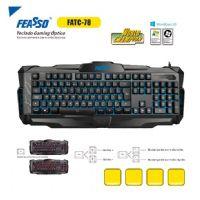 Teclado USB Gamer Feasso - Preto (FATC-78)