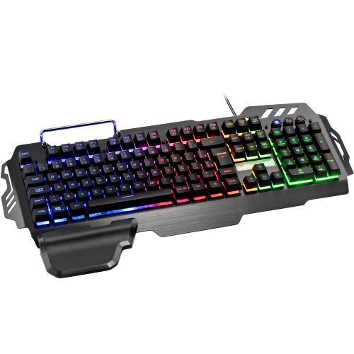 Teclado Gamer Semi Mecânico Warrior LED - USB (TC210)