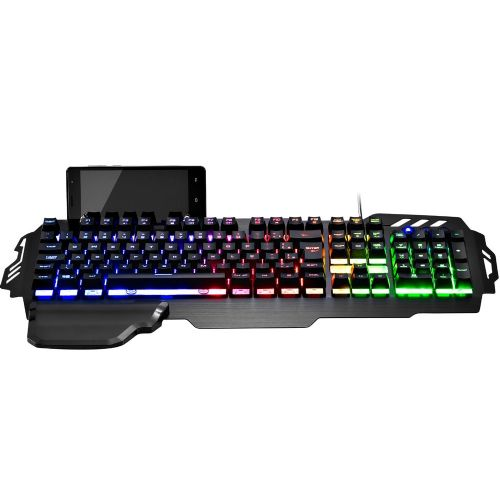 Teclado Gamer Semi Mecânico Warrior LED - USB (TC210)