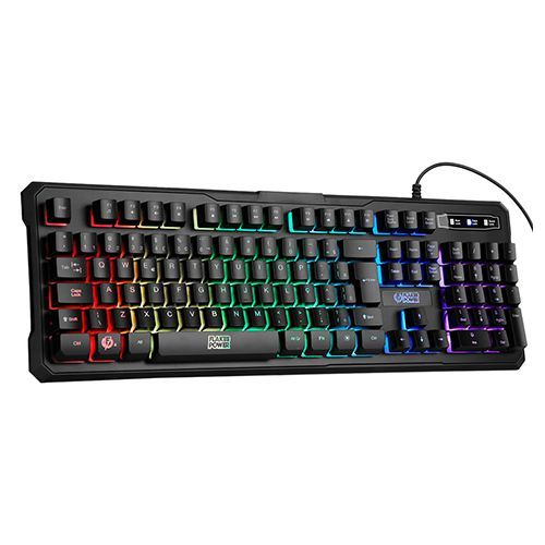 Teclado Gamer USB Membrana Tripla Flakes Power Battle ELG