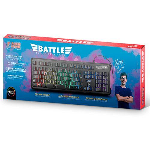 Teclado GAMER Membrana Tripla USB Flakes Power Battle ELG