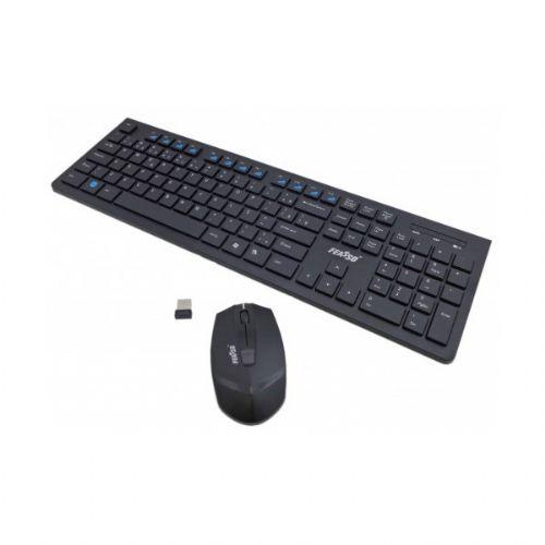 Kit Teclado/Mouse Sem Fio USB Feasso FATC-30 Preto