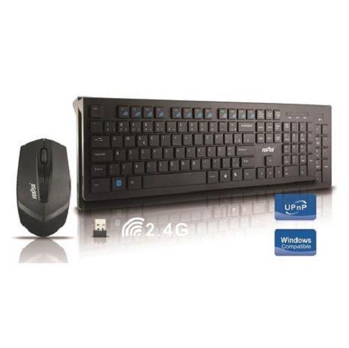 Kit Teclado e Mouse Sem Fio USB Feasso FATC-30 Preto
