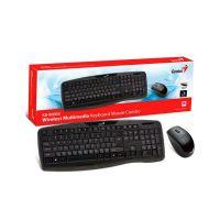 Kit Teclado e Mouse Sem Fio USB Genius KB-8000X - Preto