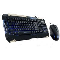 Kit Teclado e Mouse Gamer USB Commander Thermaltake (KB-CMC-PLBLPB-01)