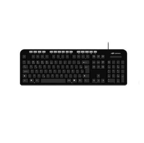 Kit Teclado e Mouse USB C3Tech KT-100BK Preto