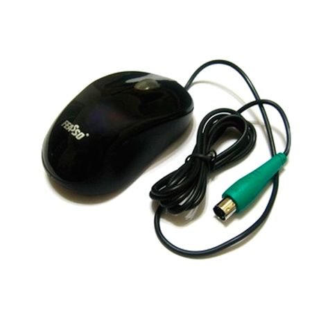 Mouse PS2 1000DPI Feasso - Preto (FAMO-08)