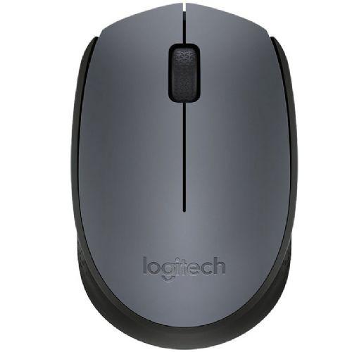 Mouse USB Sem Fio 1000dpi Cinza Logitech M170