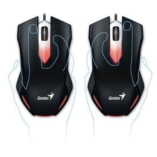 Mouse USB Gamer 1000dpi Genius X-G200 - Preto (31040034100)