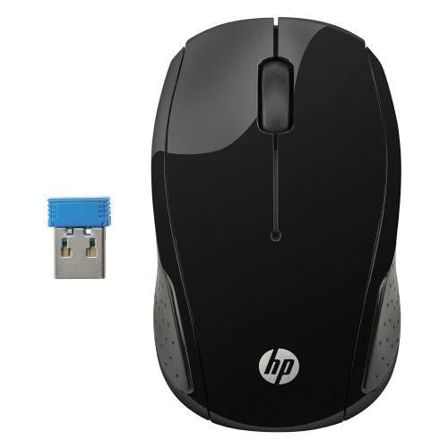 Mouse USB Sem Fio 1000dpi HP 200 - Preto (X6W31AA)