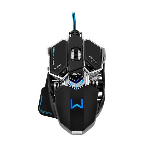 Mouse Gamer Warrior 4000dpi com Mousepad - Preto / USB (MO246)